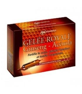 API CONSEILS GELEE ROYALE GINSENG-ACEROLA 20 AMPOULES
