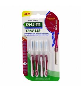 GUM TRAV-LER BROSSETTE INTERDENTAIRE 1, 4 MM REF1612-4 BROSSETTES