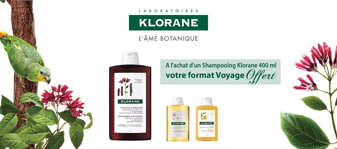 OFFRE Klorane shampoing 400ML